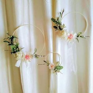 Set of 3 Floral Hoop wreath-Wedding-Nursery Decor